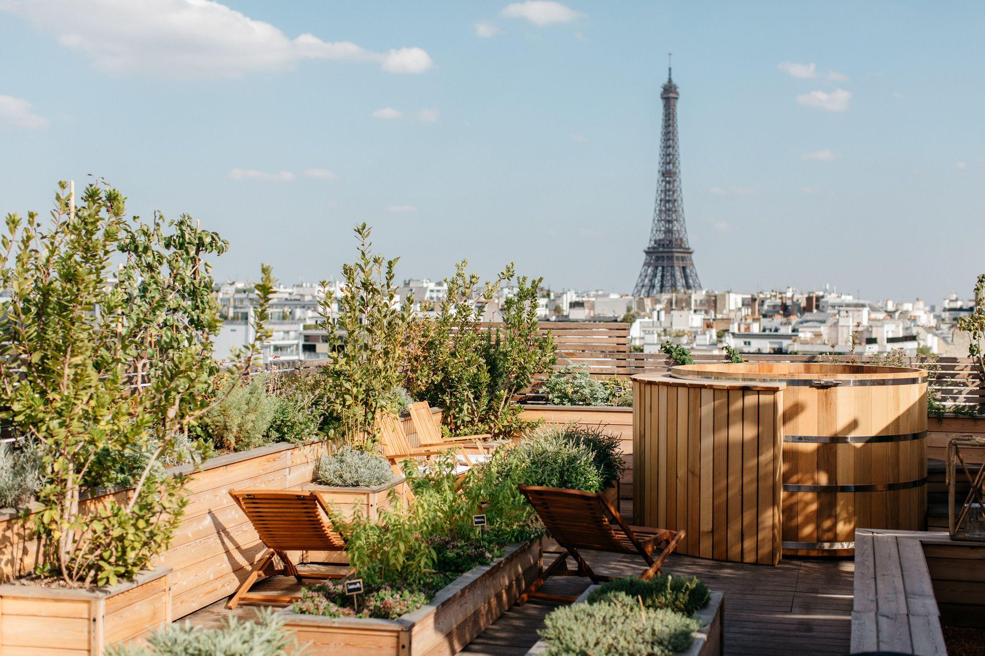 Spa & bain nordique sur le rooftop de l'hôtel Brach Paris 16